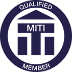 Qualified member of the Institute of Translation & Interpreting logo, MITI with LINK to my profile on the ITI website